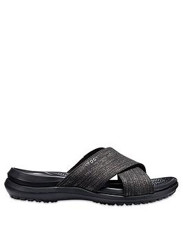 crocs-capri-shimmer-x-band-sandal-black