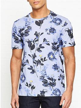 ted-baker-doberma-floral-print-t-shirt-blue