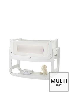 snuz-free-mattress-protectornbspsnuzpod2-3-in-1-bedside-crib-with-mattress-whitenbspamp-snuzpod-mattress-protector