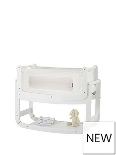 snuz-snuzpod2-3-in-1-bedside-crib-with-mattress-white
