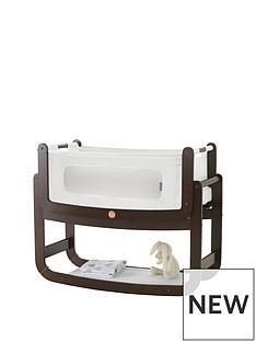 snuz-snuzpod2-3-in-1-bedside-crib-with-mattress-espresso