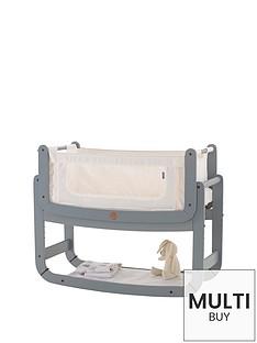 snuz-free-mattress-protectornbspsnuzpod2-3-in-1-bedside-crib-with-mattress-dove-greynbspamp-snuzpod-mattress-protector