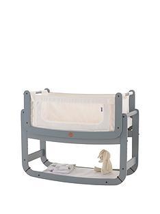 snuz-snuzpod2-3-in-1-bedside-crib-with-mattress-dove-grey