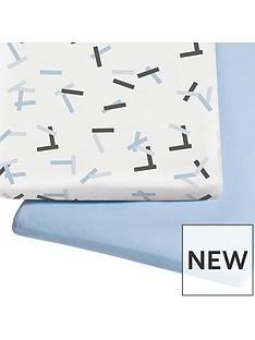 snuz-snuz-bedside-crib-pack-2-fitted-sheets