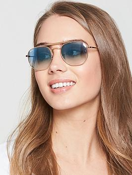 Ray-Ban Icons Sunglasses - Gold/Blue