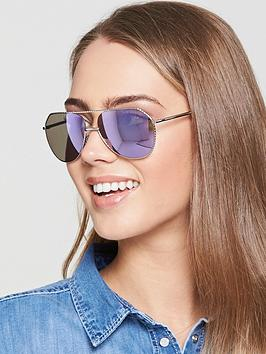 Dolce & Gabbana Twist Brow Bar Sunglasses - Silver