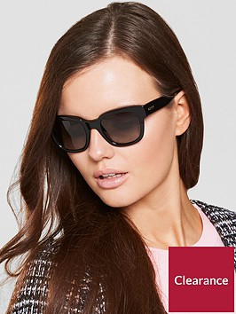 dkny-oval-black-sunglasses