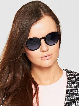 Michael Kors Oval Sunglasses - Black