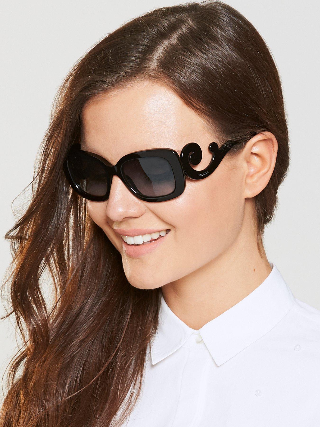 49a8886d331d7 ... spain prada swirl arm rectangle sunglasses black very ff4ce 124c3