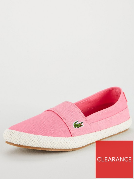 57fece8db Lacoste Marice 218 1 Caw Slip On Shoes - Off White Pink