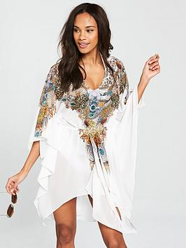 forever-unique-eunice-gold-chain-print-cover-up-white