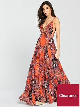 forever-unique-susanne-beach-maxi-dress-orange