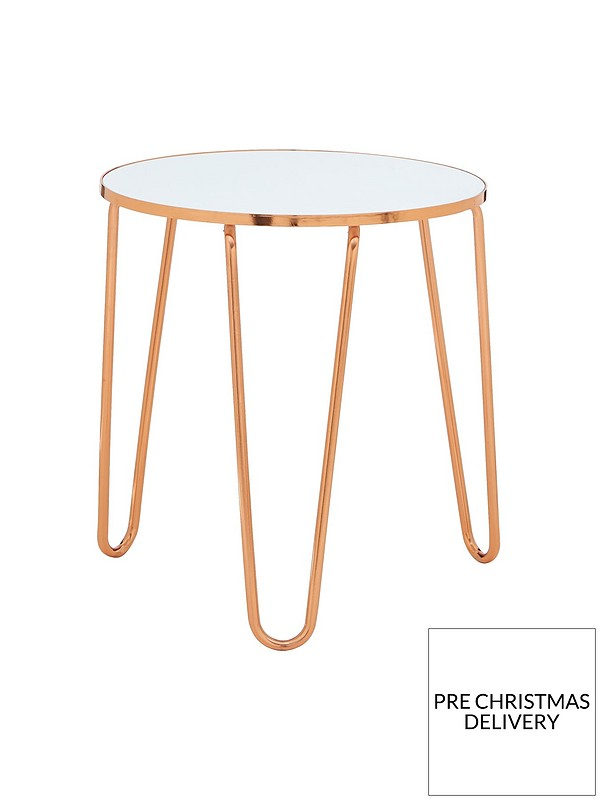 new products 27fae 7f89e Glam Side Table - White/Gold