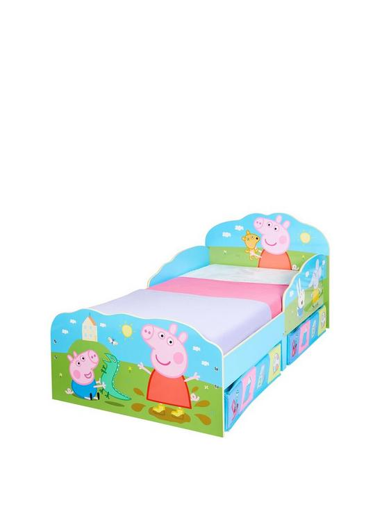 Peppa Pig Toddler Bed With Underbed Storage By Hellohome