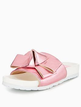 Lost Ink Charli Structured Bow Slider - Pink
