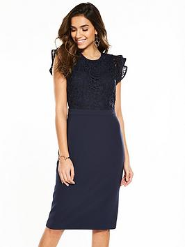 Phase Eight Peggy Lace Dress - Navy