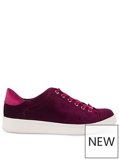 miss-selfridge-velvet-trainer
