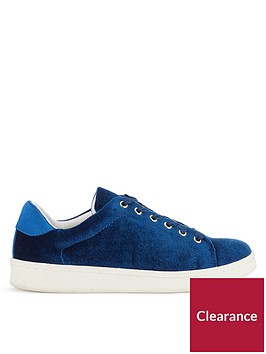 miss-selfridge-velvet-trainers-navy