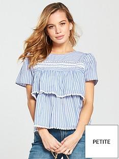 v-by-very-petite-stripe-pompom-blouse-bluewhite