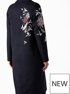 monsoon-daisy-embroidered-coat-navy