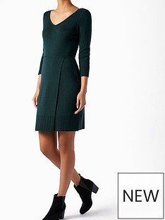 monsoon-hannah-stitch-wrap-dress-dark-greennbsp