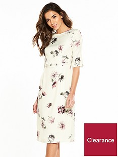 phase-eight-olga-rose-print-dress-buttermilk
