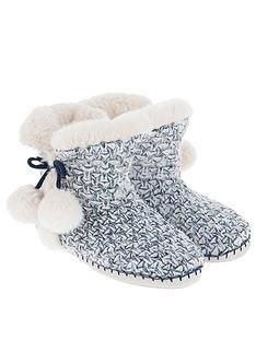 accessorize-navy-and-ecru-slipper-boot