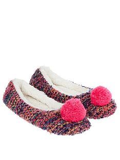 accessorize-agnes-pom-pom-ballerina-slippersnbsp