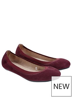 accessorize-isabelle-elasticated-suede-ballerina