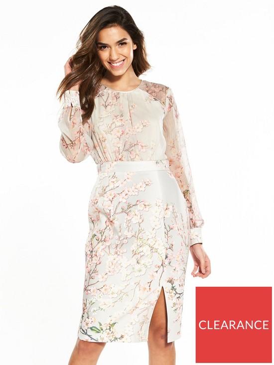 2bb12812a800d Phase Eight Nissa Dress - Buttermilk   very.co.uk