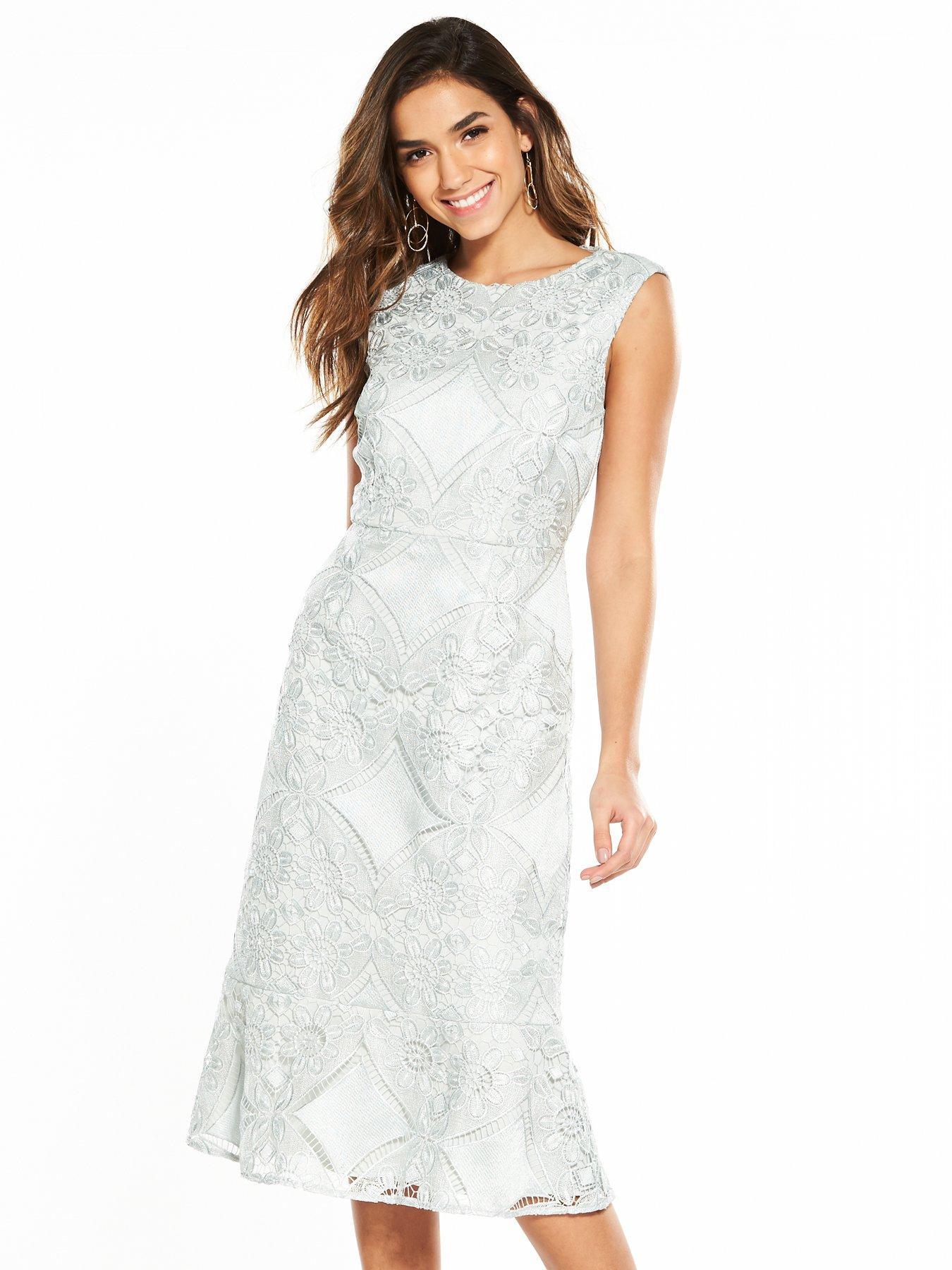 Phase Eight Jemime Lace Dress - Blue Opal