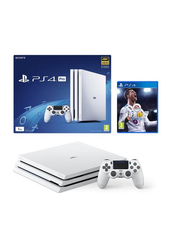 PlayStation 4 Pro Pro 1Tb White Console with FIFA 18 and Optional Extra  Controller and/or 12 Months PlayStation Network | very.co.uk