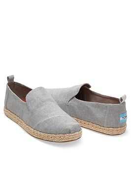 Toms Deconstructed Alpargata Rope Espadrille - Drizzle Grey