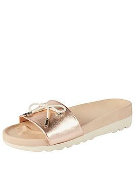 Kickers Karah Slide Sandal Leather - Rose Gold