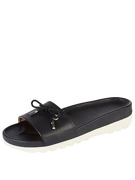 Kickers Karah Leather Slide Sandal - Black