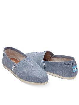 Toms Alpargata Espadrille Shoe - Blue