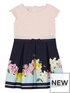 baker-by-ted-baker-girls039-navy-floral-print-mock-dress