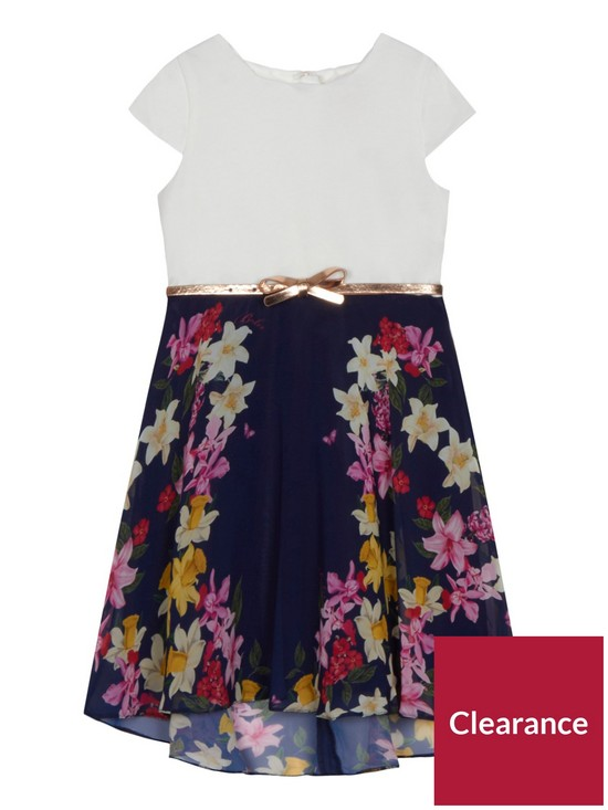 f0c0c97f4ee884 ... Ted Baker UK crazy price d930c f1248  Girls Navy Floral Print Belted  Dress get cheap 9ff85 09d36 ...