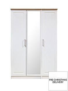 SWIFT Regent Ready Assembled 3 Door Mirrored Wardrobe