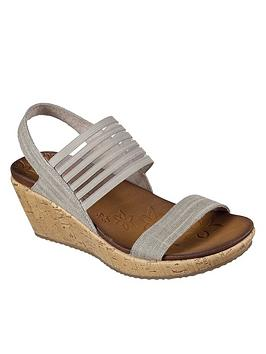 Skechers Beverlee Smitten Kitten Sandals - Taupe