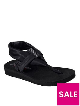 skechers-meditation-disco-sandal-black