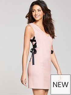 michelle-keegan-ribbon-side-bodycon