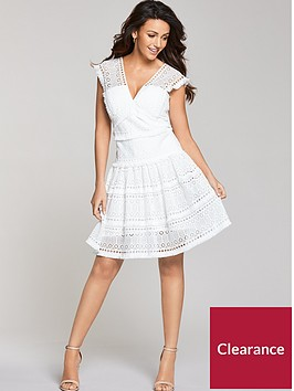 michelle-keegan-tiered-geo-lace-dress