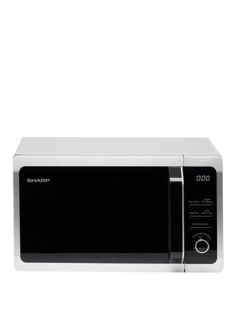 sharp-r274slm-20l-800w-solo-microwave-silver