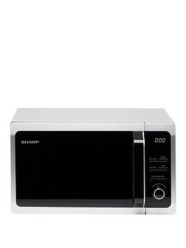 sharp-r274slm-20l-800w-solo-microwave-silver