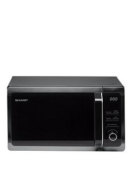 sharp-r274km-20l-800w-solo-microwave-black