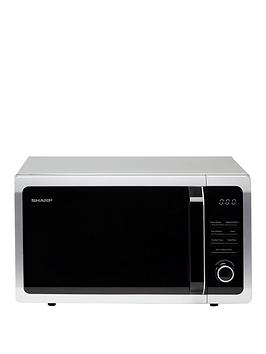 sharp-r374slm-25l-900w-solo-microwave-silver