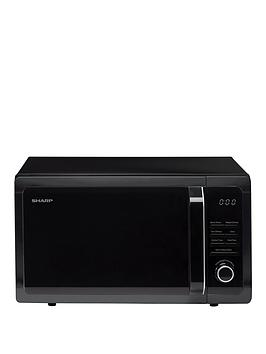 sharp-r374km-25l-900w-solo-microwave-black