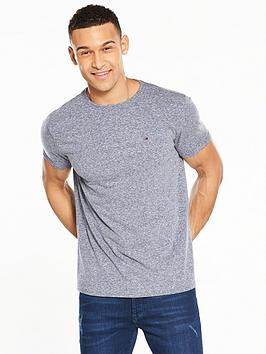 Tommy Jeans Triblend T-shirt, Black Iris, Size S, Men thumbnail