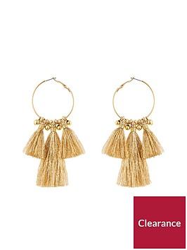 v-by-very-gold-tassel-hoop-earrings